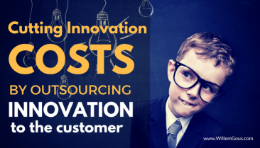 Cutting innovation costs by outsourcing innovation to the customer