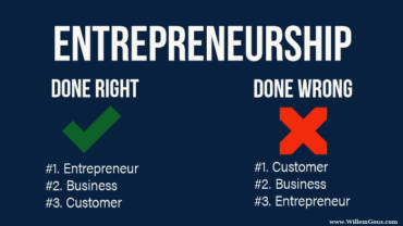 Entrepreneurship the right way versus the wrong way